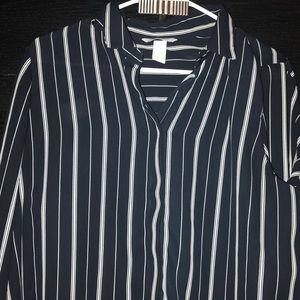 Striped black blouse